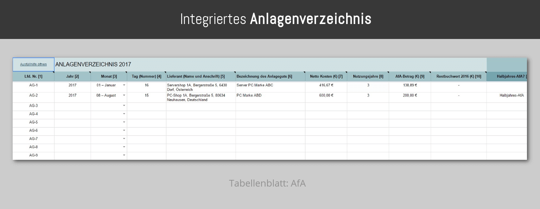 Ea tabelle pro umsatzsteuer sterreich 2017 ea - Afa tabelle 2017 ...